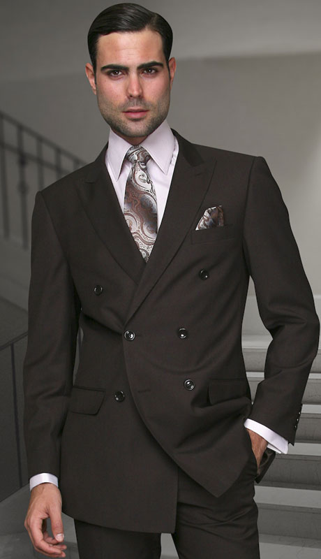 TZD-100-BR ( 2pc Double Breasted Suit, Super 150's )