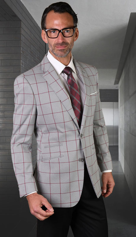 GIGLIO-10-GR ( 1pc Single Sport Jacket, Super 150's )