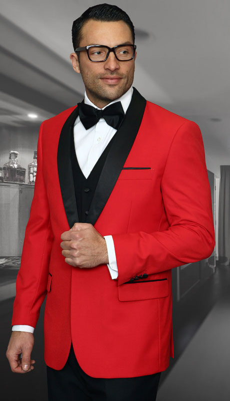 ENCORE-RE ( 3pc Tailored Suit With Fit Flat Front Pants And Bow Tie )