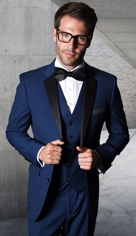 T2000PV-NA ( 3pc Tailored Suit With Fit Flat Front Pants )