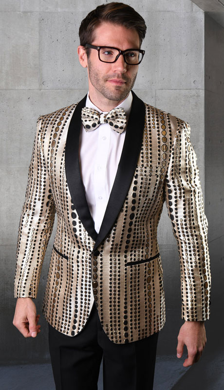 VJ120-BL ( 1pc Single Jacket With Matching Bow Tie )