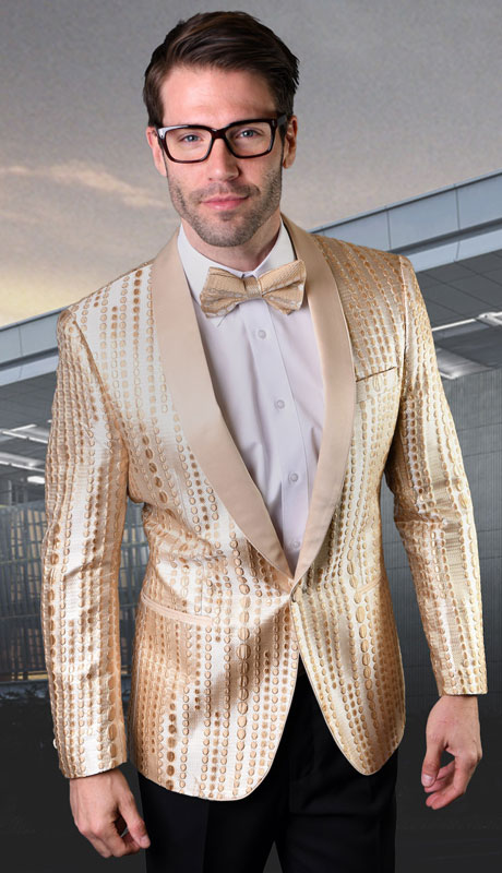 VJ120-GO ( 1pc Single Jacket With Matching Bow Tie )