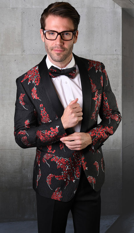 VJ-120-BL ( 1pc Single Jacket With Matching Bow Tie )