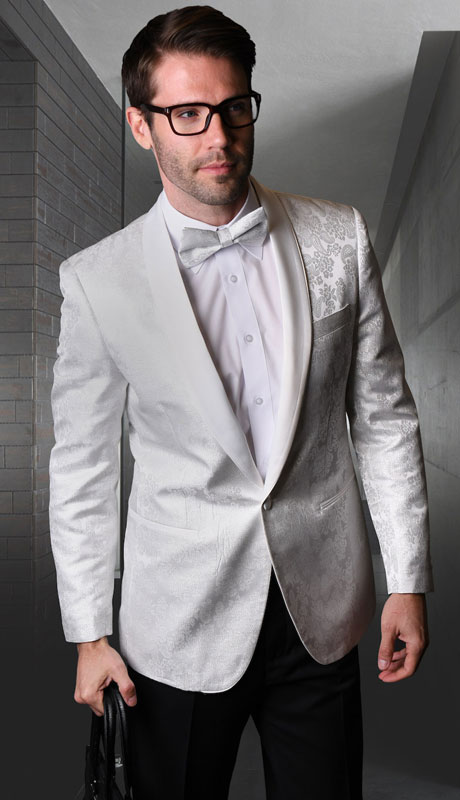 VJ-120-WH ( 1pc Single Jacket With Matching Bow Tie )