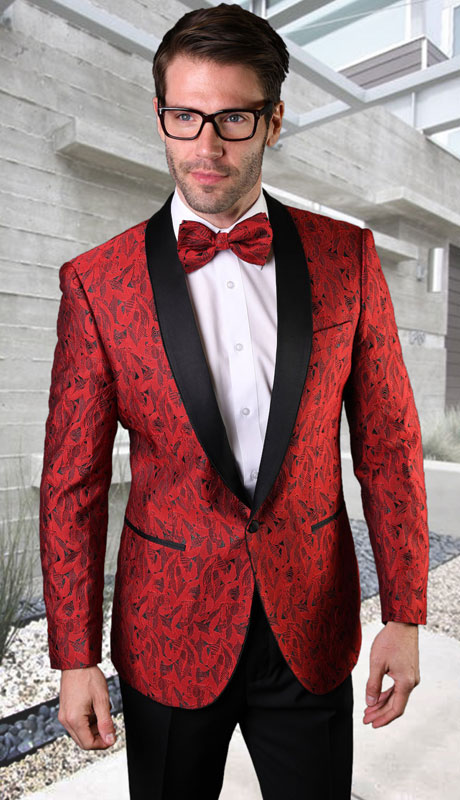 VJ-123-RE ( 1pc Single Jacket With Matching Bow Tie )