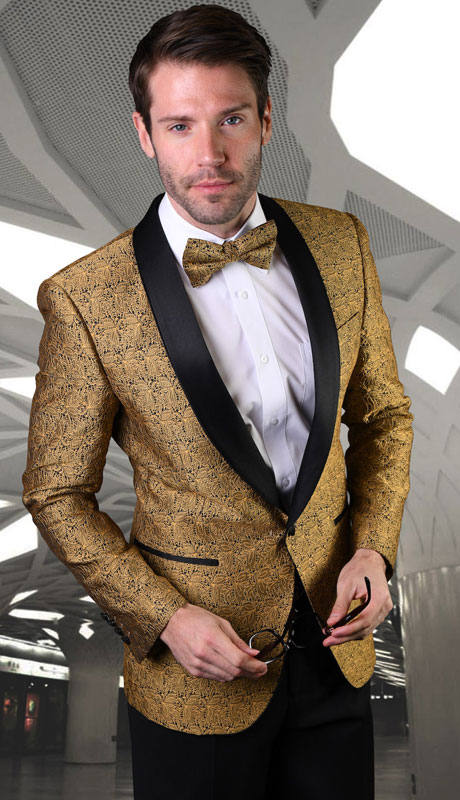 VJ-124-GO ( 1pc Single Jacket With Matching Bow Tie )