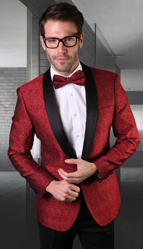 VJ-124-RE ( 1pc Single Jacket With Matching Bow Tie )