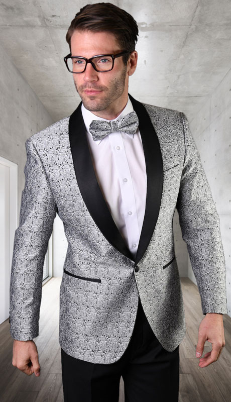 VJ-124-SI ( 1pc Single Jacket With Matching Bow Tie )