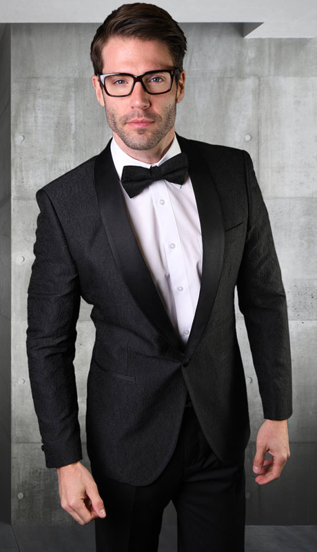 VJ-124-BL ( 1pc Single Jacket With Matching Bow Tie )