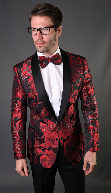 VJ-128-RB ( 1pc Single Jacket With Matching Bow Tie )