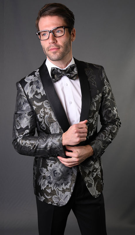 VJ-128-SB ( 1pc Single Jacket With Matching Bow Tie )