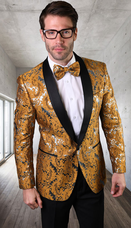 VJ-130-GO ( 1pc Single Jacket With Matching Bow Tie )