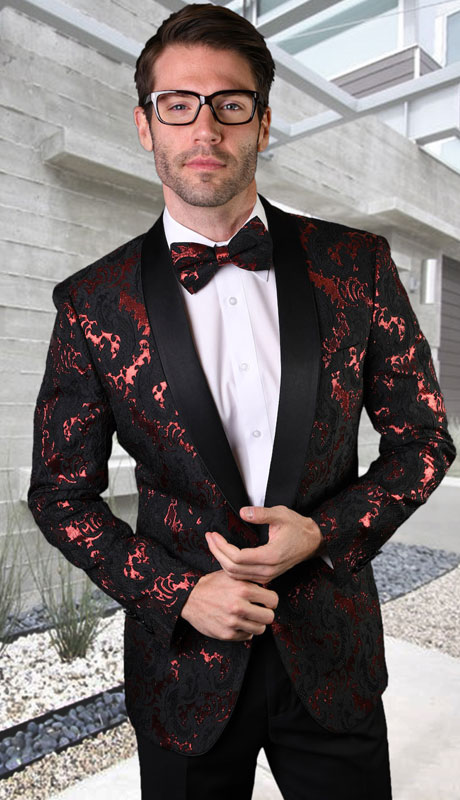 VJ-130-RB ( 1pc Single Jacket With Matching Bow Tie )
