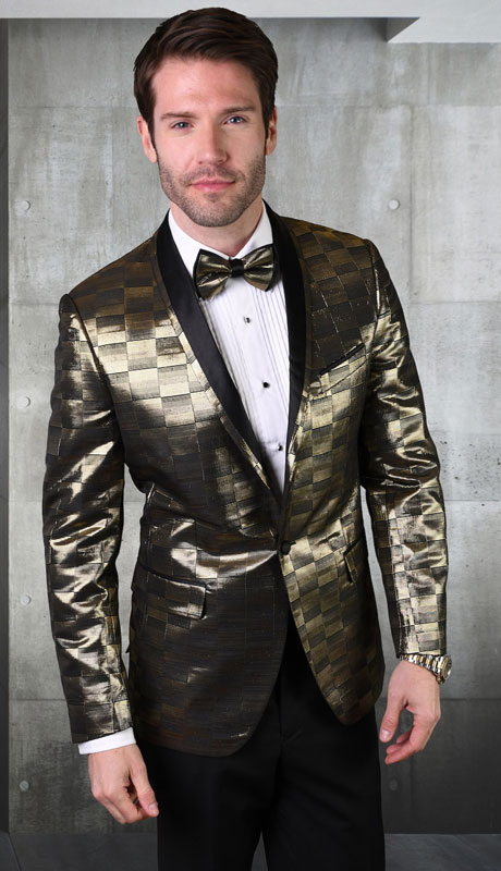 RJ-100-GO ( 1pc Single Jacket With Matching Bow Tie )