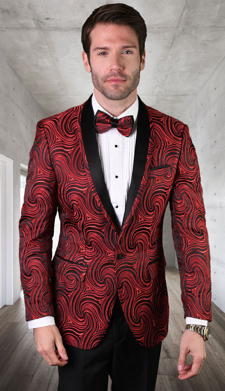 RJ-104-RE ( 1pc Single Jacket With Matching Bow Tie )