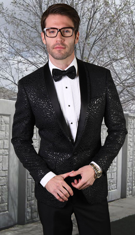 RJ-105-BL ( 1pc Single Jacket With Matching Bow Tie )