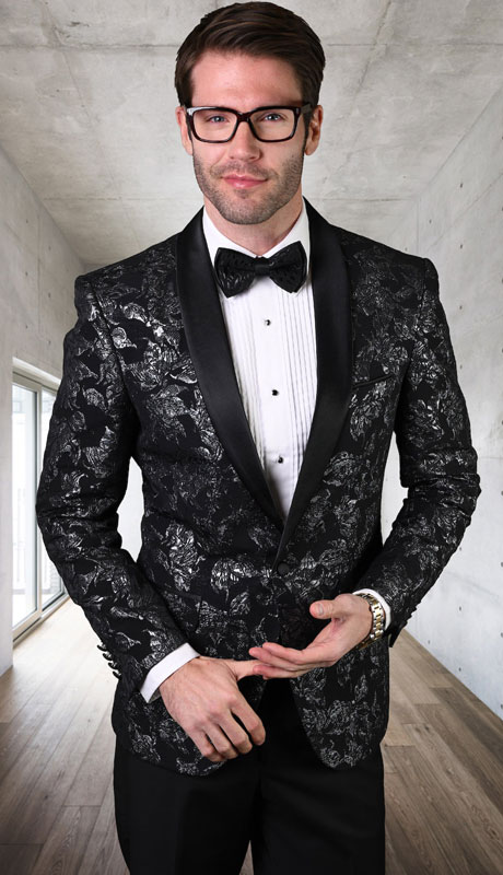 PJ-202-BL ( 1pc Single Jacket With Matching Bow Tie )
