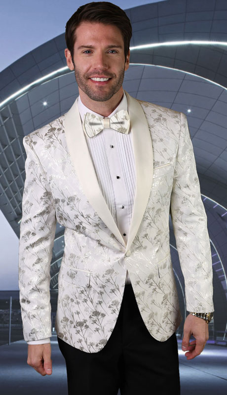 PJ-205-WH ( 1pc Single Jacket With Matching Bow Tie )