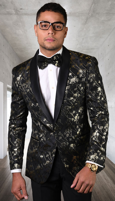 PJ-205-BL ( 1pc Single Jacket With Matching Bow Tie )