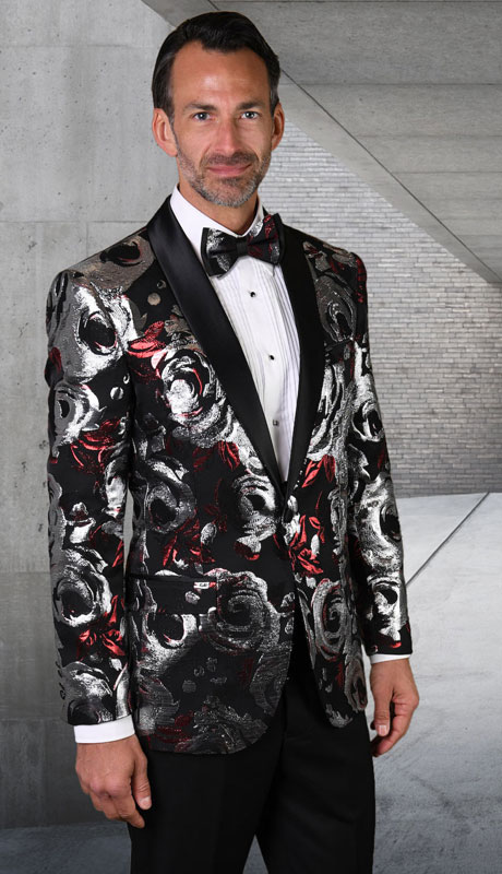 PJ-206-RM ( 1pc Single Jacket With Matching Bow Tie )