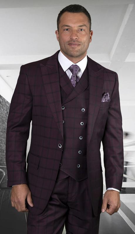 FERULI-BU ( 3pc Regular Fit Suit With Wide Leg Pants, Super 150s )