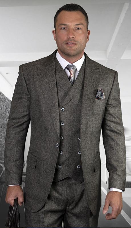 TROPA-CH ( 3pc Regular Fit Suit With Wide Leg Pants, Super 150s )