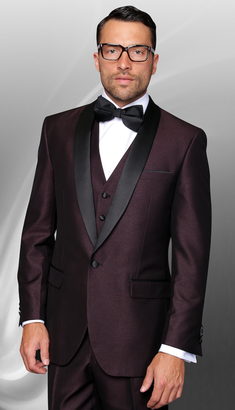 Enzo-1 PLM ( 3pc Mens Statement Suit Flat Front Pants, Super 150's, Includes Free Matching Bow Tie )