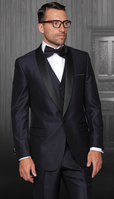 Enzo-1 IND ( 3pc Mens Statement Suit Flat Front Pants, Super 150's, Includes Free Matching Bow Tie )