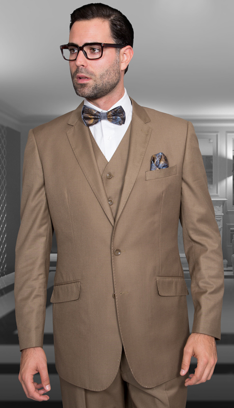 STZV-100 BRZ ( 3pc Mens Statement Suit, Flat Front Pants, Super 150's )