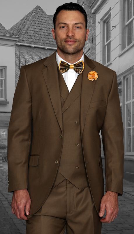 Messina BRZ ( 3pc Mens Statement Suit, Pleated Pants, Super 150's )