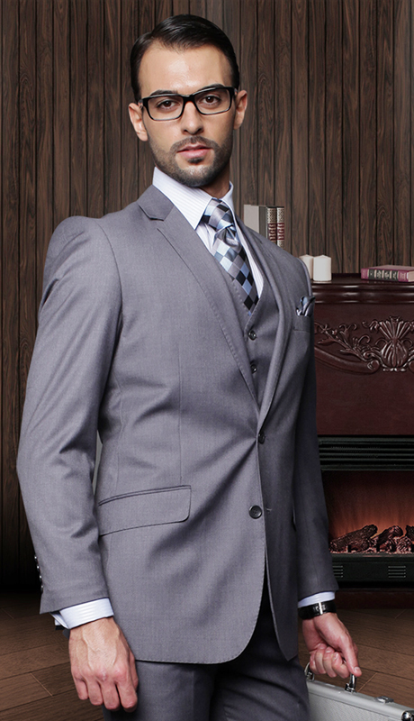 TZ-100-HC-CO ( 3pc Mens Statement Suit With Pleated Pants, Super 150's )