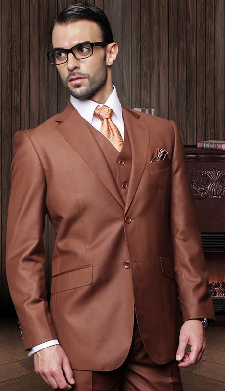 TZ-100-CO ( 3pc Mens Statement Suit With Pleated Pants, Super 150's )