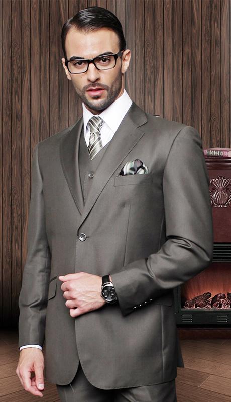 TZ-100-OL ( 3pc Mens Statement Suit With Pleated Pants, Super 150's )