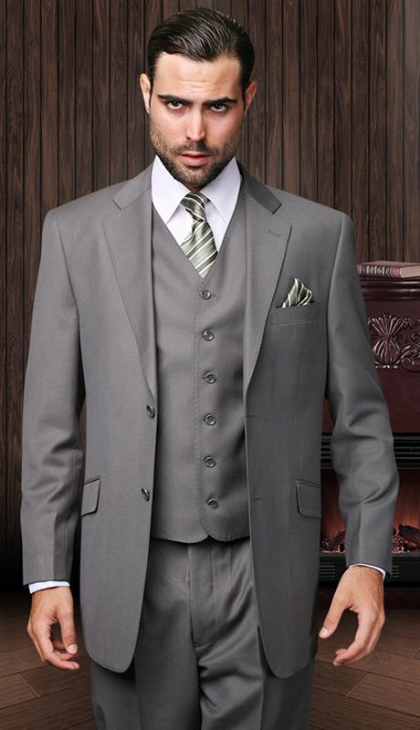 TZ-100-OX ( 3pc Mens Statement Suit With Pleated Pants, Super 150's )
