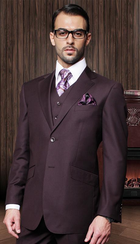 TZ-100-PL ( 3pc Mens Statement Suit With Pleated Pants, Super 150's )