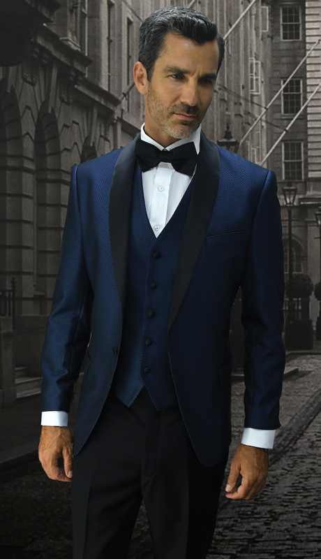 Look-2 IND ( 3pc Mens Statement Suit Flat Front Pants, Super 150's, Includes Free Matching Bow Tie )