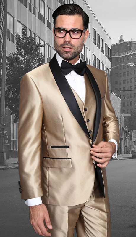 Enzo-7 CHM ( 3pc Mens Statement Suit Flat Front Pants, Super 150's, Includes Free Matching Bow Tie )