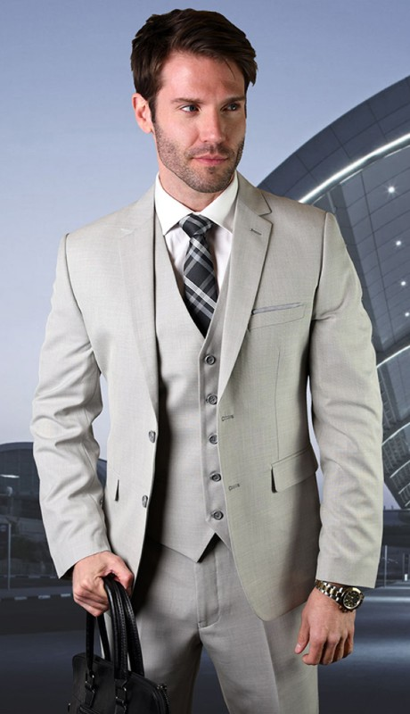SW-205-SA ( 3pc Sim Fit Suit With Flat Front Pants )