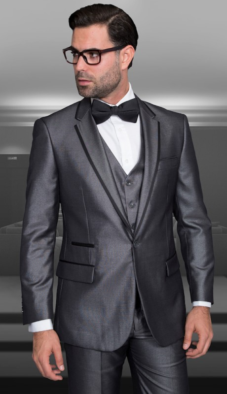 VENETIAN-GR ( 3pc Tailor Fit Tuxedo With Flat Pants )