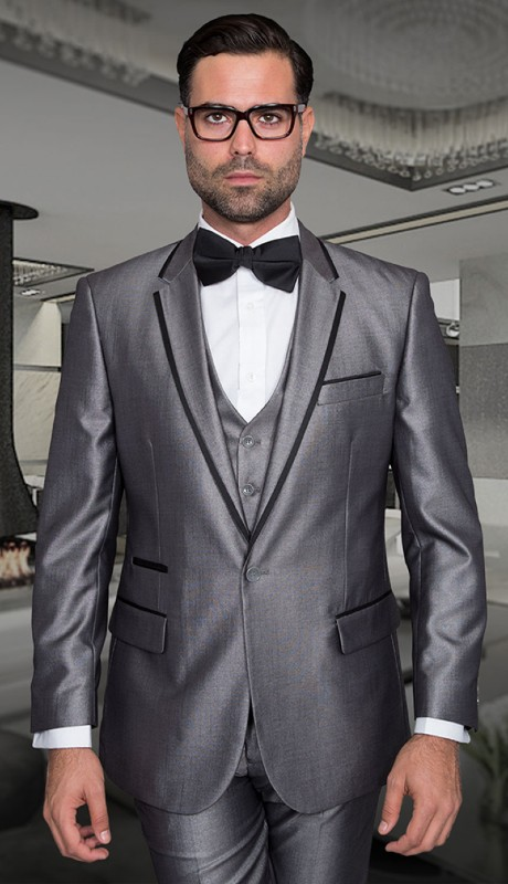 VENETIAN-SI ( 3pc Tailor Fit Tuxedo With Flat Pants )