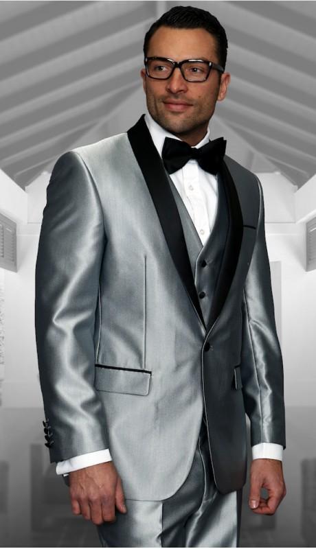 WYNN-SI ( 3pc Mens Statement Suit Flat Front Pants, Super 150's )