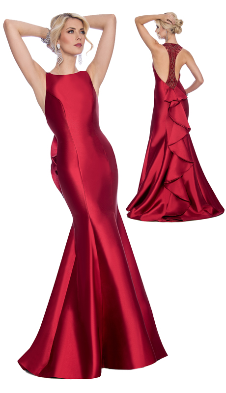 Stella Couture By Serendipity 17001 ( 1pc Open Back Embellished Satin Ball Gown )