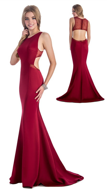 Stella Couture By Serendipity 18104 ( 1pc Embellished Open Back Trumpet Gown For Special Occasion )