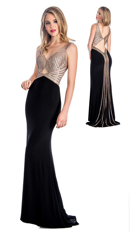 Stella Couture By Serendipity 18108 ( 1pc Embellished Front And Back Gown For Prom )