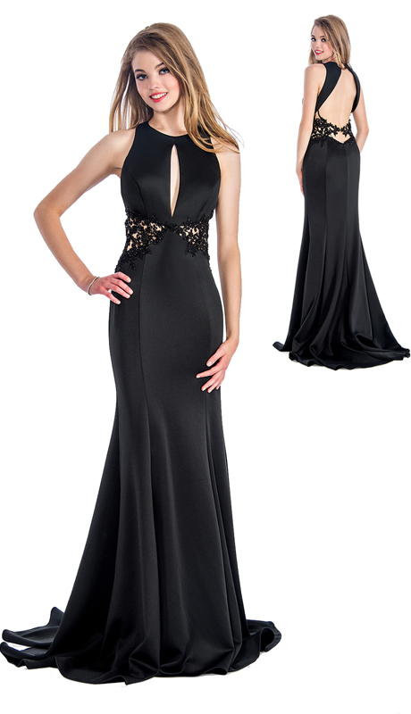 Stella Couture By Serendipity 18116  ( 1pc Open Back Evening Trumpet Gown With Beaded Embellishments For Special Occasion )