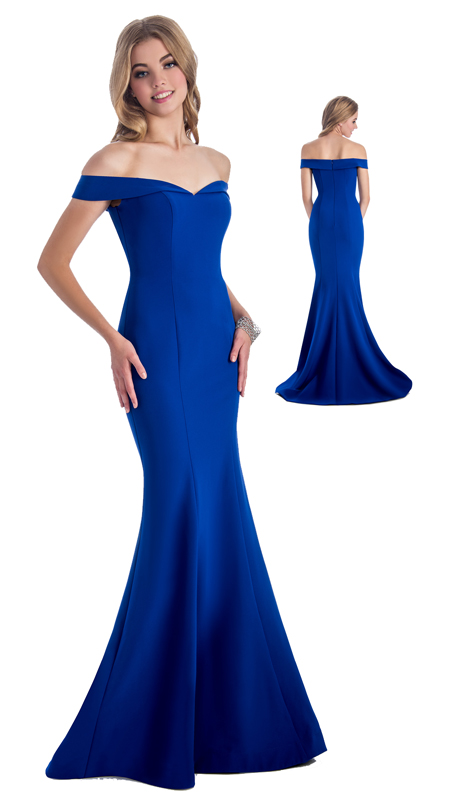 Stella Couture By Serendipity 18123 ( 1Pc Asymmetric Off The Shoulder Mermaid Gown For Prom )