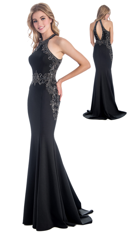 Stella Couture By Serendipity 18124 ( 1pc  Evening Trumpet Gown With Beaded Embellishments For Special Occasion )