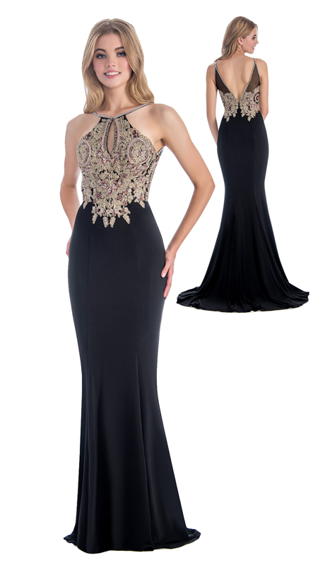 Stella Couture By Serendipity 18140 ( 1Pc  Evening Gown With Beaded Embellishments For Special Occasion )