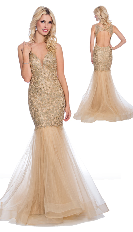 Stella Couture By Serendipity 18151( 1Pc Sequin Lace Mermaid Gown With Tulle Overlay For Prom )