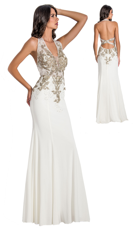 Stella Couture By Serendipity 18175 ( 1pc Evening Gown With Beaded Embellishments For Special Occasion )